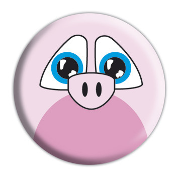Button ANIMAL FARM - Piggy