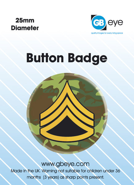 ARMY RANK SARGE Button