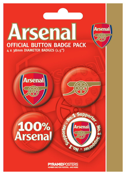 Button ARSENAL FC - number