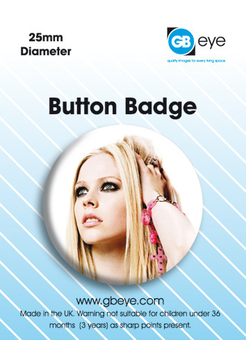 Button Avril Lavigne-Pink