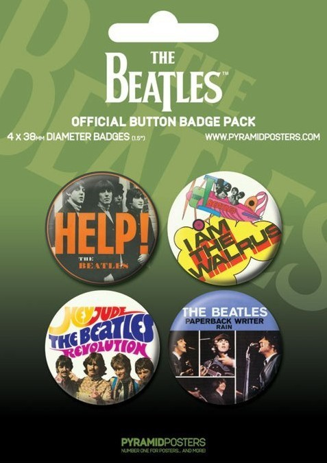 Button BEATLES - green