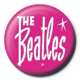 Button BEATLES - pink