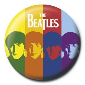 Button BEATLES - stripes
