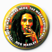 Button  BOB MARLEY - herb