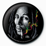 Button BOB MARLEY - smoke