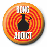 Button BONG ADDICT