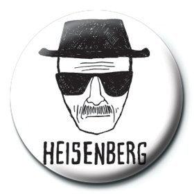 Button Breaking Bad - Heisenberg paper