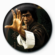 Button BRUCE LEE - HAND