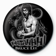 Button BRUCE LEE - WATAHH!