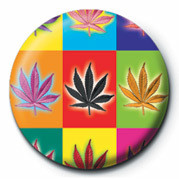 Button CANNABIS POPART