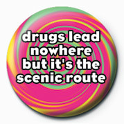DRUGS LEAD NOWHERE Button
