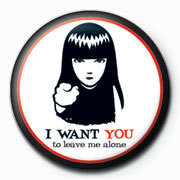 Button Emily The Strange - i want you