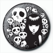 Button Emily The Strange - skulls
