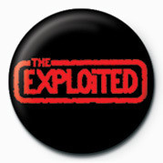EXPLOITED (RED LOGO) Button
