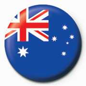 Button Flag - Australia