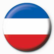 Button Flag - Sebia & Montenegro