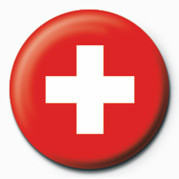 Button Flag - Switzerland