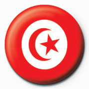 Button Flag - Tunisia
