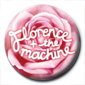 Button FLORENCE & THE MACHINE - rose logo