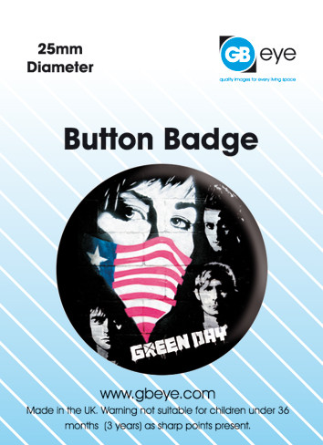 Button GREEN DAY - Protest