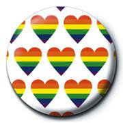 Button HEARTS MULTI