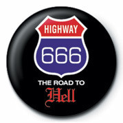 Button HIGHWAY 666 - THE ROAD TO