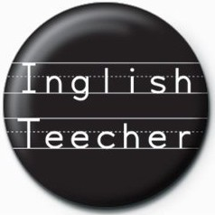 Button Inglish Teecher
