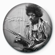 Button JIMI HENDRIX (B&W)