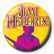 Button JIMI HENDRIX (GOLD)