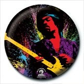 Button JIMI HENDRIX - paint