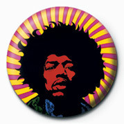 Button JIMI HENDRIX (PSYCHEDELIC)