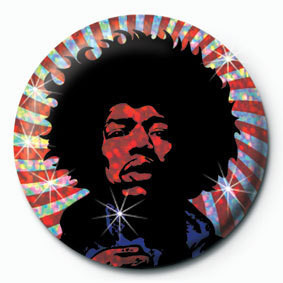 Button JIMI HENDRIX - psychedelic