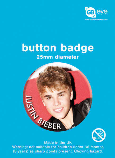 Button JUSTIN BIEBER - smile