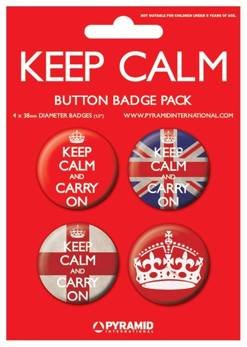 Button KEEP CALM & CARRY ON