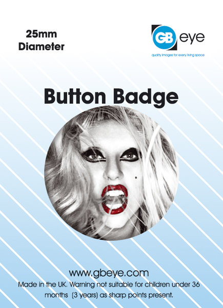 LADY GAGA - FACE Button