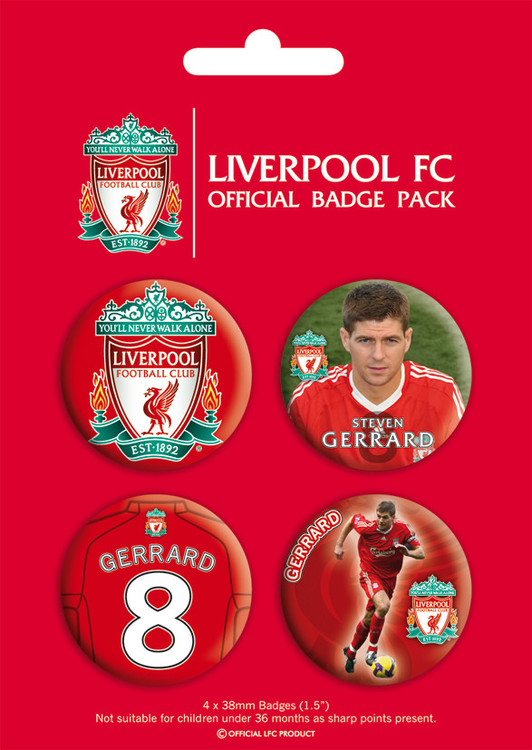 Button LIVERPOOL - gerrard