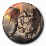 Button  Luis Royo - Black Tinkerbell
