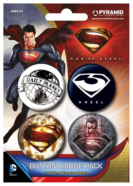 Button MAN OF STEEL