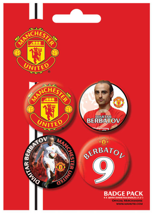 Button MANCH. UNITED - Berbatov