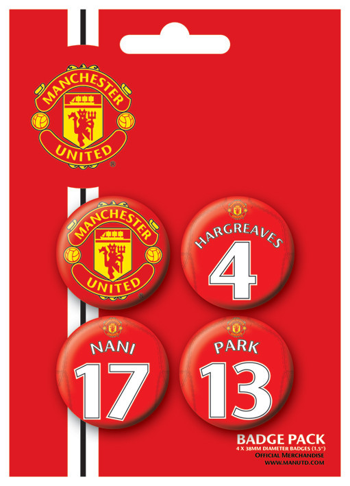 MANCH. UNITED - Players 3 Button