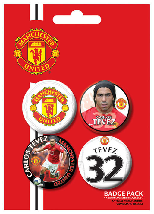 Button MANCH. UNITED - Tevez