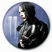 Button MARILYN MANSON - leather