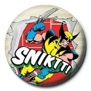 Button MARVEL - wolverine snikt!