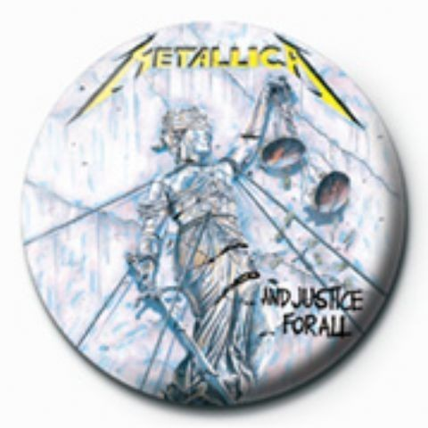 Button METALLICA - justice for all GB