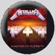 Button METALLICA - master of puppets