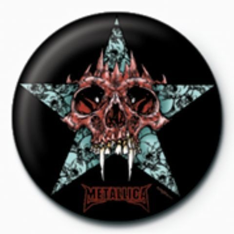 METALLICA - star GB Button