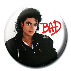 Button MICHAEL JACKSON - Bad