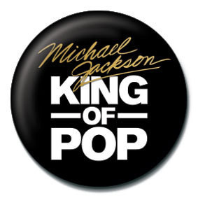 Button MICHAEL JACKSON - king of the pop