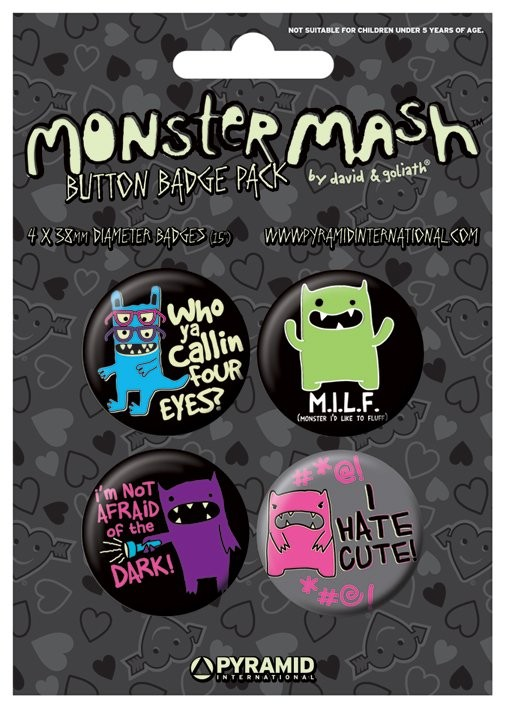 Button MONSTER MASH - i hate cute