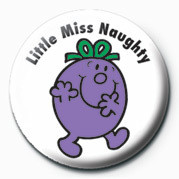 Button MR MEN (Little Miss Naught